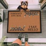 Hello Goodbye Yorkshire Funny Outdoor Indoor Wellcome Doormat
