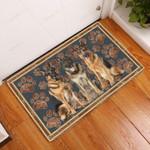 German Shepherd Flower Paw - Dog Doormat  Welcome Mat