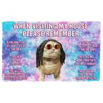 Alohazing 3D Please Remember Hippie Bob Meowley House Rules Custom Doormat