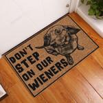 Dont Step on Our Wieners Funny Outdoor Indoor Wellcome Doormat