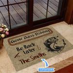 Gone Bass Fishing Funny Outdoor Indoor Wellcome Doormat