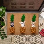 Chihuahua Pineapple Doormat Cute Doormat Outdoor Indoor Mat Chihuahua Dog Lovers