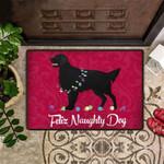 Feliz Naughty Dog Doormat Adorable Golden Retriever Welcome Door Mat Indoor Decor Xmas Gift