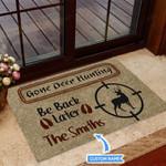 Gone Deer Hunting Funny Outdoor Indoor Wellcome Doormat