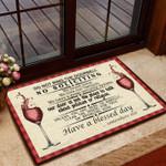 Do Not Ring The Doorbell Doormat  Welcome Mat  House Warming Gift