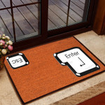 Enter And Escape Doormat  Welcome Mat  House Warming Gift