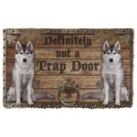 3D Definitely Not A Trap Door Wolf Doormat