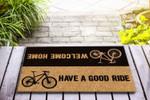 Bicycle - Welcome home Funny Outdoor Indoor Wellcome Doormat