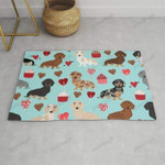 Dachsund dachsie doxie valentines day valentine hearts love cupcakes cute dog gifts Funny Outdoor Indoor Wellcome Doormat