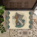 Cat Mandala Pattern Doormat  Welcome Mat  House Warming Gift