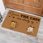 Cool Cat Beware The Cats Are Shady Af Funny Outdoor Indoor Wellcome Doormat