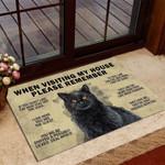 Black Cat When Visiting My House Please Remember Funny Outdoor Indoor Wellcome Doormat