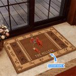 Calf Roping Westen Pattern Funny Outdoor Indoor Wellcome Doormat
