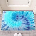 Blue Tie Dye Funny Outdoor Indoor Wellcome Funny Outdoor Indoor Wellcome Doormat