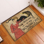 Door Mat Welcome To My Woman Cave Reading With Cats