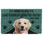 3D Labrador Retriever We Know Youre Here Custom Name Doormat