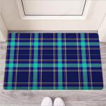 Blue Plaid Tartan Print Funny Outdoor Indoor Wellcome Funny Outdoor Indoor Wellcome Doormat