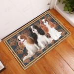 Cavalier King Charles Spaniel Flower Paw - Dog Doormat  Welcome Mat