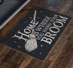 Home Is Where You Hang Your Broom Witch Funny Outdoor Indoor Wellcome Doormat