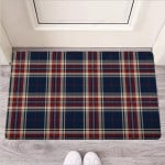 Beige Red And Blue Plaid Tartan Funny Outdoor Indoor Wellcome Funny Outdoor Indoor Wellcome Doormat