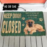 Keep Door Closed Great Danes Dog Gender Personalized Doormat DHC04062819