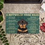 House Rules Rottweiler Dog Doormat DHC04062029
