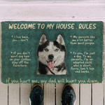 Husky Welcome To My House Rules Doormat DHC04061943