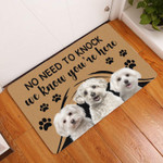 Maltese No Need To Knock Dog Doormat DHC04065269