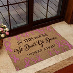 In This House Breast Cancer Awareness Doormat DHC04065044