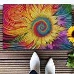 Hippie sunflower doormat Doormat