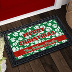Merry Christmas Paws Personalized Doormat DHC04063437