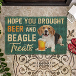 Hope You Brought Beer And Beagle Treats Doormat DHC04062830