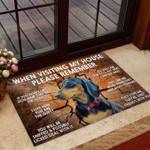 Please remember Dog Coir pattern print Doormat