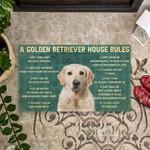 House Rules Golden Retriever Dog Doormat DHC04062789