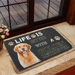 Life Is Better With A Golden Retriever Doormat DHC04061994