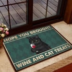 Hope You Brought Wine And Cat Treats DD0509029CL Doormat
