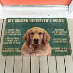 My Golden Retrievers Rules Doormat DHC04062888