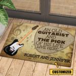 Love Guitar Personalized Doormat DHC070671