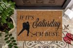 I Am Busy Playing Hockey CLA1710027D Doormat