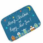 Merry Christmas Nad Happy New Year CLT091026R Doormat