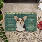House Rules Pembroke Welsh Corgi Dog Doormat DHC04062768