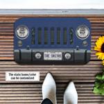 Jeep Wrangler Ocean Blue Metallic Doormat