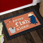 Never Fish Alone Doormat DHC04063925