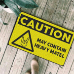 Caution may contain heavy metal Doormat