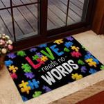 Love Needs No Words Autism Aware Doormat DHC04064433