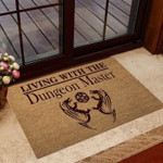 i am Living With The Dm Tabletop Role-playing Game RPG Coir Pattern Print Doormat
