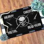 Heavy christmas metal new year Doormat