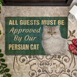 Must Be Approved By Our Persian Cat Doormat DHC04062106