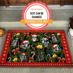 Merry Christmas Skull Personalized Doormat DHC07061330