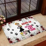 Home Of The Crazy Dog Lady Cat Doormat